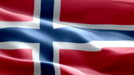 National flag Norway wave Pattern loopable Elements video