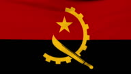 National flag of Angola flying on the wind video