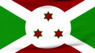 National flag of Burundi flying on the wind video