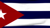 National flag of Cuba flying on the wind video