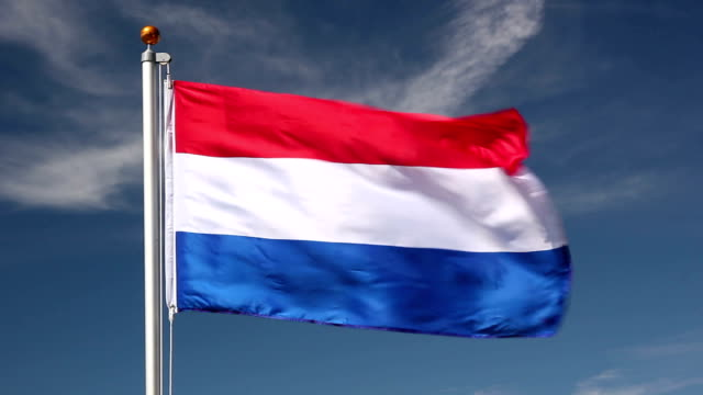 National flag of Holland video