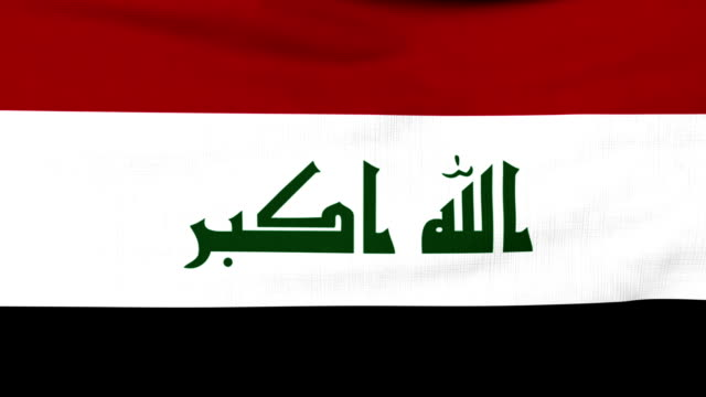 National flag of Iraq flying on the wind video