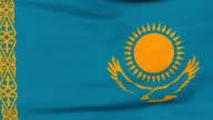 National flag of Kazakhstan flying on the wind video