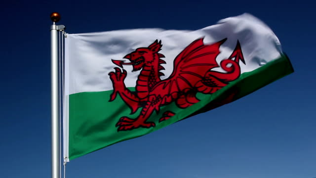 National flag of Wales video