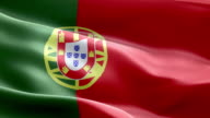 National flag Portugal wave Pattern loopable Elements video