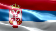 National flag Serbia wave Pattern loopable Elements video