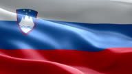 National flag Slovenia wave Pattern loopable Elements video