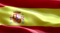National flag Spain wave Pattern loopable Elements video
