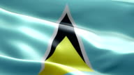 National flag St. Lucia wave Pattern loopable Elements video