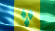 National flag St Vincent and the Grenadines wave Pattern loopable Elements video