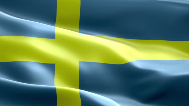 National flag Sweden wave Pattern loopable Elements video