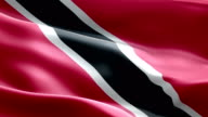 National flag Trinidad And Tobago wave Pattern loopable Elements video