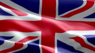 National flag UK england wave Pattern loopable Elements video