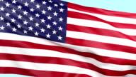 US National Flag waving loopable video