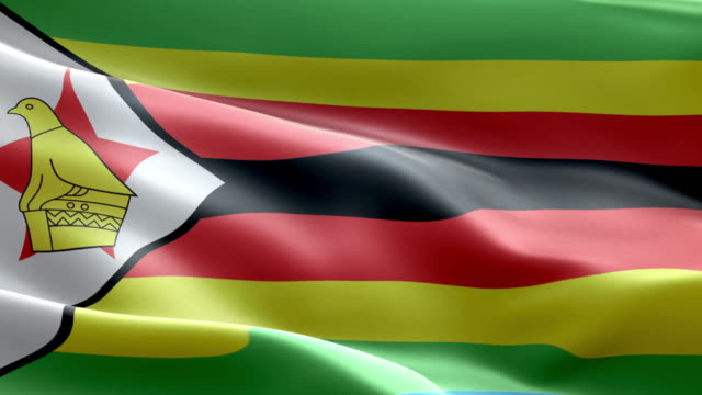 National flag  zimbabwean wave Pattern loopable Elements video