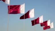National flags of Qatar video