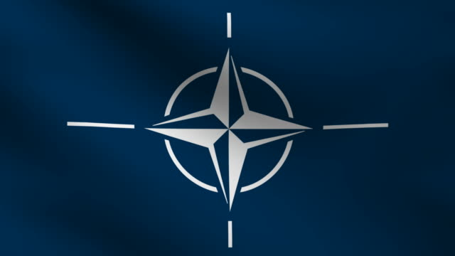 Nato or Otan flag. video