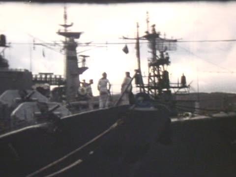 Nato ship in harbour video