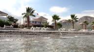 Natural beach scene video