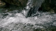Natural Fresh Spring Water In Slow Motion video