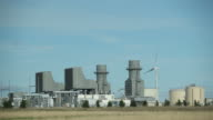 Natural Gas 400 Megawatt Electricity Peaking Plant with Wind Turbine video