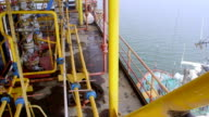 Natural gas extraction by offshore platform video