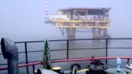 Natural gas extraction in offshore area video