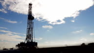 Natural Gas Fracking Tower HD video
