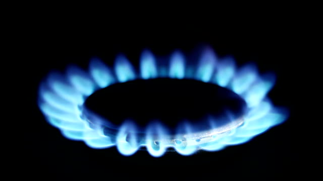 Natural Gas Inflammation in Stove Burner video
