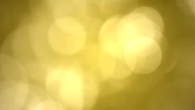 Natural Gold Bokeh Looped video