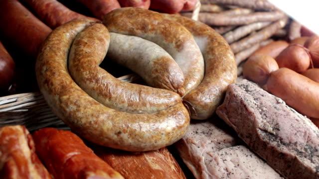 Natural homemade sausage video