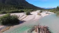 Natural Mountain River Flyover video