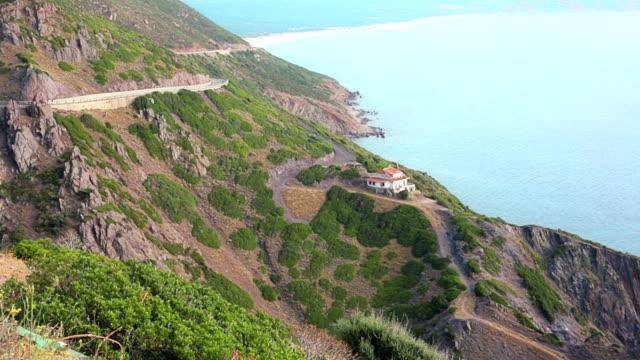 Natural rocky coast video