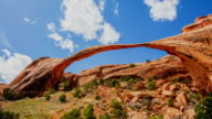 T/L 8K Natural sandstone arch at the Arches National Park video