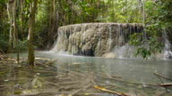 Natural waterfall in forest video