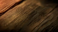 Natural wood texture close-up video
