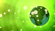 Nature Globe (right placed, green background) - Loop video