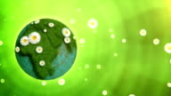 Nature Globe (left placed, green background) - Loop video