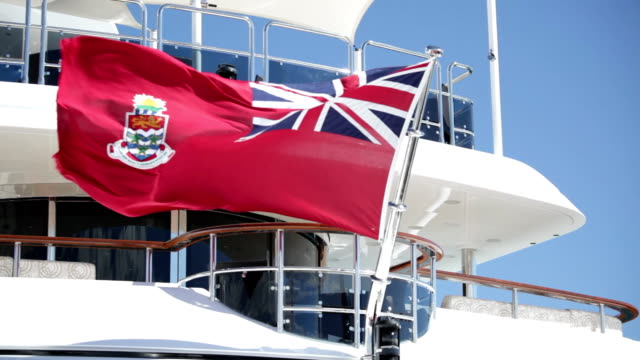 Nautical flag flying on yacht video