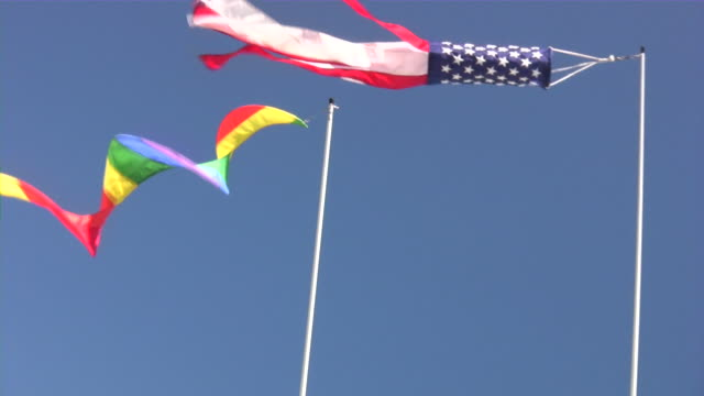 Nautical Wind pointer (Weather Vane, windvane) made of American flag. video