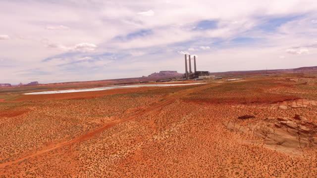 AERIAL Navajo power station in Arizona video