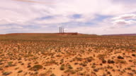 AERIAL Navajo power station in Page Arizona video