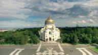 Naval Cathedral Of Saint Nicholas In Kronstadt. video