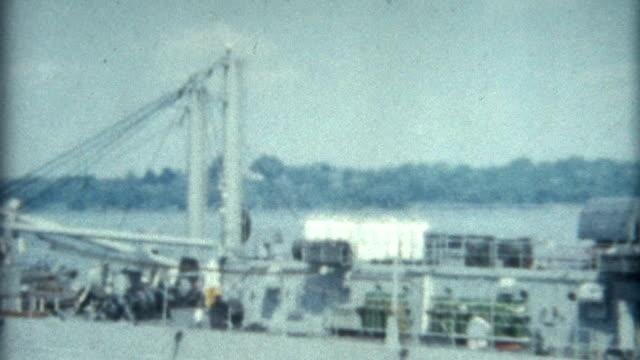 Naval Ship New York 1950's video