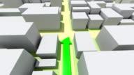 GPS navigation trip. HD. Loop. video