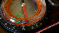 Navigational compass with moving needle video