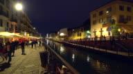 Naviglio Grande canal in Milan video