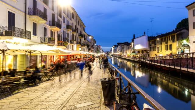 Naviglio Grande in Mailand, Time Lapse video