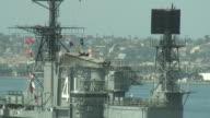(HD1080i) US Navy: Aircraft Carrier Ship Tower, Radar video