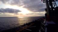 Navy Boat At Sea video